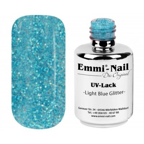 Гел-лак UV-Polish/ UV-Lack Light-Blue Glitter